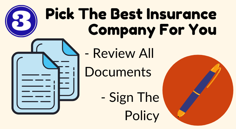 Pick an insurance company tips keystone